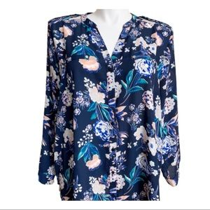 Women's Blouse 3X by Simply Emma Floral Top
